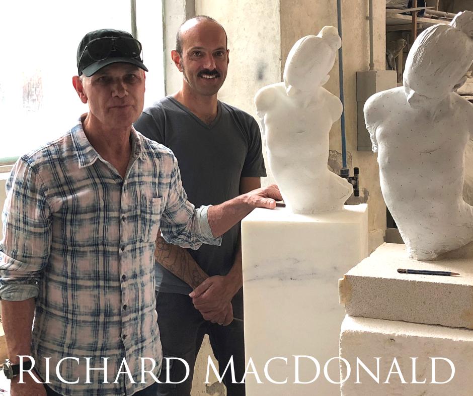 Figurative sculptor richard macdonald carrara marble image